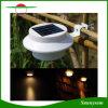 Indicatore luminoso esterno di energia solare LED per l'accensione delle lampade della decorazione dell'iarda della grondaia del tetto della rete fissa del giardino