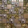 Mattonelle di vetro della parete del mosaico, mosaico del metallo dell'acciaio inossidabile (SM210)