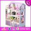 Best Luxurious 4 Floors Children Wooden Dollhouse Kits com Garagem W06A238