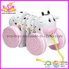 Brinquedos de Madeira para Menina, Branco e Cor-de-rosa (W05B025)