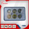 Luz de trabajo LED 18 vatios Rectángulo, linterna del LED para modelos Honda Fit Motos