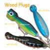 Attraits en bois de pêche d'attirail de pêche