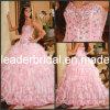 Rosafarbener Organza Quinceanera kleidet trägerloses Schatz-Ballkleid P26760