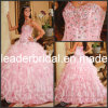 O Organza cor-de-rosa Quinceanera veste o vestido de esfera Strapless P26760 do querido