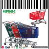 chariot à plastique de supermarché du grossiste 180L