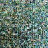 Pauaの貝のモザイク・タイル、背景の壁(ALT-SQ10)