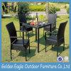 Rattan-Möbel-Garten-Set, im Freien speisendes Set