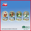 Natale Souvenir Glass Water Globe Round Snow Ball con il LED