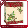 Мешки подарка снежка роскошные бумажные упаковывая мешки несущей мешков с серебряный штемпелевать