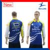 Camisas de polo sines marca sublimadas tinte lleno de la venta al por mayor de la ropa de deportes de Healong con la funda larga