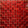 Het luxe-Rood van de Tegel van het Mozaïek van de Steen van het glas