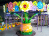 Flower atractivo Pot Amusement Park Rides para Kids