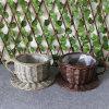 최신 판매 찍소리 Creactive Handmade 고리버들 세공 또는 버드나무 찻잔 및 접시