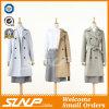 Chaqueta de prendas de abrigo de invierno de doble pecho de mujer abrigo largo de foso