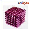 Brinquedo magnético de revestimento das esferas de Buckyballs da cor-de-rosa 216 (T-016)