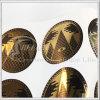 Круговые металлические стикеры золота (KG-ST020)