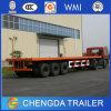 3 차축 20FT 40FT 콘테이너 수송 편평한 침대 트레일러