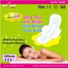 Period Time Use 245mm日の使用の超薄い女性衛生パッド