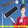 Réverbère solaire de lumières solaires de jardin du détecteur DEL