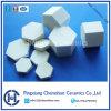 92% de alúmina de cerámica del azulejo de cerámica del hexágono por un compuesto de goma