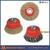 Balai serti de roue de cuvette de fil