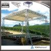 Fase portatile registrabile dell'alluminio esterno di evento con la piattaforma di legno