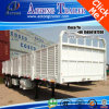 3 Axles 40ton Flatbed Side Drop Semi Trailer for Malawi