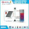 Aquecedor de água solar com placa plana dividida em casa