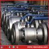 Geschmiedeter Stahl verringern Ausflussöffnung flanschte Drehzapfen-Kugelventil