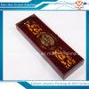 Boîte en bois d'enveloppe de cadeau de stylo classique de luxe, boîte en bois de collier de bijoux de Souven