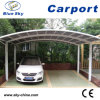 Carport popolare di Design Double Car Parking Metal con il PC Roof