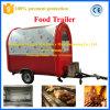 Acoplado frito alimento móvil del carro del helado de la buena calidad