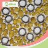 Причудливый дешевая желтая ткань шнурка вышивки гипюра