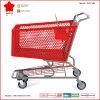 Carro de compra do metal com rodas de borracha e a cesta plástica (OW-P180L)