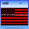Nós linha preta vermelha fina bandeira do país nacional