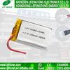 セリウムRoHSは再充電可能なLipoイオン電池103040の3.7Vリチウムイオン1200mAh電池のパックを承認した