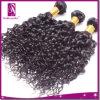 未加工黒く自然なインドの毛編む3束の毛の