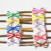 Plätzchen Packing Accessory, Double Color Stripe Small Bow mit Wire Ties, Lovely Bowknot Twist Ties