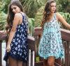 Платье повелительниц лета безрукавный шифоновое флористическое напечатанное миниое