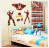 Etiqueta engomada de la pared del PVC de la decoración del hogar del cabrito del hombre del hierro del héroe Ay9068