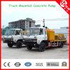 100m3/H High Pressure Truck Mounted Concrete Line Pump