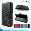 Студия 5.5k D710 оптового аргументы за сальто бумажника PU сотовых телефонов роскошного кожаный голубая