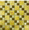 Gouden van de Muur van de Tegel van het Mozaïek van het Glas van de Folie Gebruik Als achtergrond