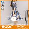 Платье повелительниц 2016 новых женщин V-Шеи конструкции шифоновое безрукавный