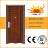 Eingang Low Price Steel Door, Iron Door Pictures für Homes (SC-S051)