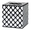 Disegno in bianco e nero della rete fissa della decorazione di legno della stanza da bagno del cubo del quadrato del supporto del coperchio di casella del tessuto