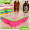 Haushalts-Silikon-Ablagekasten Microwavable Nahrungsmittelbehälter-Küche-Organisator Bento Mittagessen-Kasten-Vakuumkästen/Extension-Typ