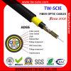 Câble fibre optique ADSS de mode unitaire de noyau de la Tonnerre-Épreuve ADSS 24