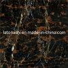 Mattonelle di marmo nere della Cina Afghanistan Portoro, marmo dorato nero del fiore