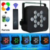 Control a distanza RF12PCS 10 Watts RGBWA Wireless Batteria-alimentato 5in1 DMX LED Light